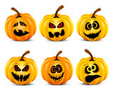 Isolated pumpkins