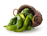 Pepper in a basket