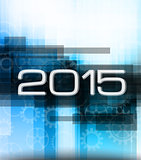 2015 high tech new year background