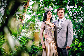 Beautiful elegant couple