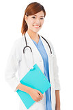young smiling professional Doctor with document