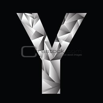 crystal letter Y