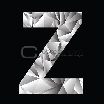 crystal letter  Z