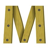 wood letter W