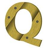 wood letter Q