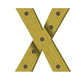wood letter X