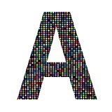 multicolor letter A