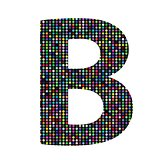 multicolor letter B