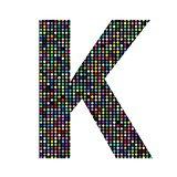 multicolor letter K