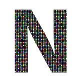 multicolor letter N