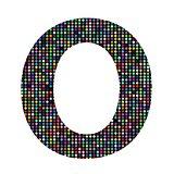 multicolor letter O