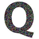 multicolor letter Q