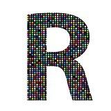 multicolor letter R