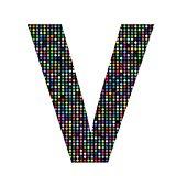 multicolor letter V