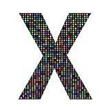 multicolor letter X
