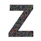 multicolor letter Z