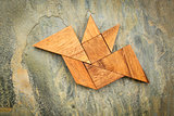 tangram bat abstract