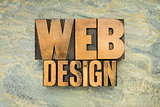 web design in wood type