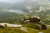 Mountains and mountain lakes in the Rila Bulgaria