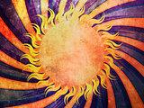 Grunge sunny background
