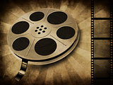 Movie reel on vintage
