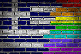 Dark brick wall - LGBT rights - Greece