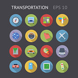Flat Icons For Transportation