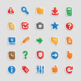 Sticker icons for interface