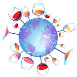 Wine World isolated