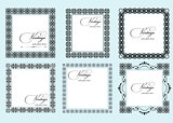 Collection of ornate vintage vector frames with sample text. Per