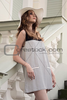charming woman with trendy dress
