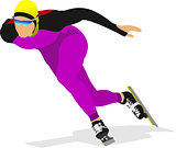 Speed skating. Vector illustration for designers