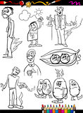 sayings set cartoon coloring page