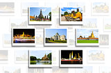 Thailand travel background concept