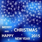 snowflakes merry christmas