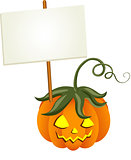 Pumpkin with Signboard