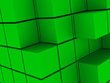 the green cubes
