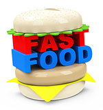 the fast food burger