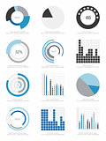 set of infographics elements
