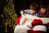 Touching Santa