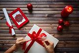 Preparing Christmas gift