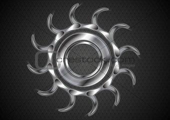 Abstract tech metallic cogwheel