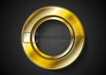 Abstract golden ring logo