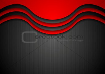 Abstract wavy corporate background
