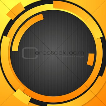 Abstract orange tech elements background