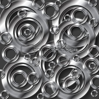 Abstract metallic silver vector background