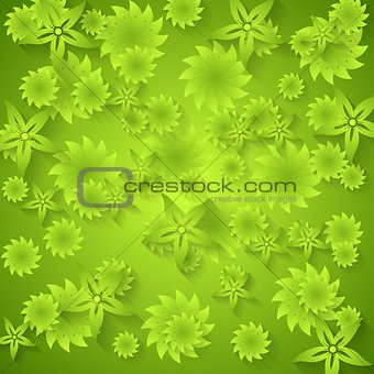Abstract green floral pattern