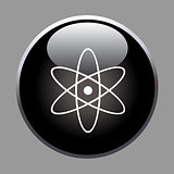 Molecule icon on black button