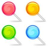 Color lollipops.