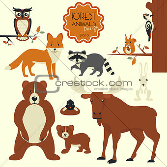 Forest animals collection